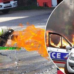 Pompiers contre CRS : des lances d'incendies remplies au napalm !