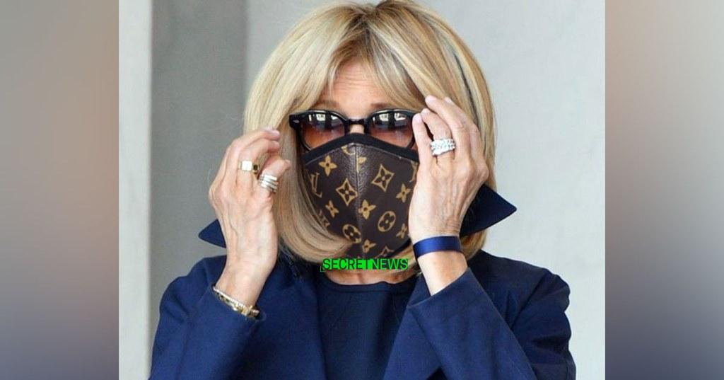 jour - Confinement - Page 20 Brigitte-macron-masque-louis-vuiton