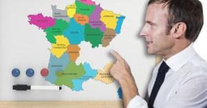 Pour diminuer les cas de Covid en France, Macron accorde l'indépendance à l'Auvergne Rhône-Alpes