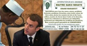 Positif au Covid-19, Emmanuel Macron est soigné par le marabout Sako Ndiaye