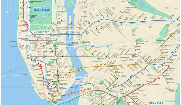 real mta map