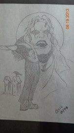 The Crow in Pencil
