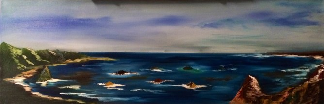 Inspired by my many drives along the Pacific Coast Highway (PCH aka Hwy 1) this year, this one specifically of Half Moon Bay (Not For Sale)