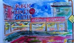 Pike's Place Market (watercolor)
