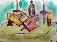 Nightly prayers (watercolor)