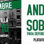 Andalucía: Soberanía, para defender nuestros derechos