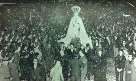 Virgen del Rosario en Cádiz, años 60