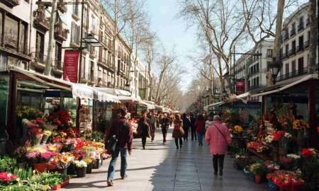 Sobre las Ramblas de Barcelona