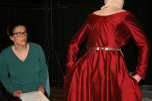 The red dress comes to life