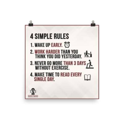 4 Simple Rules Poster