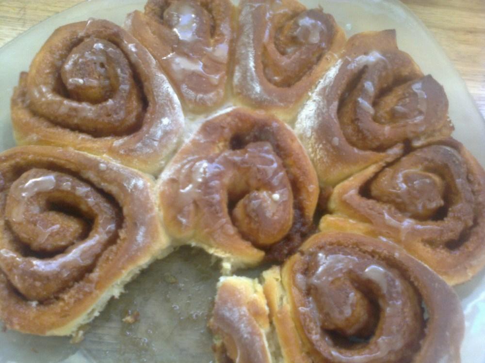 mon cinnamon roll !!!! brioche à la cannelle