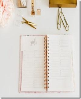 un carnet pour s'organiser : un pas contre la procrastination
