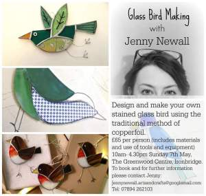 Jenny Newall Stained Glass Worshop Bird Making