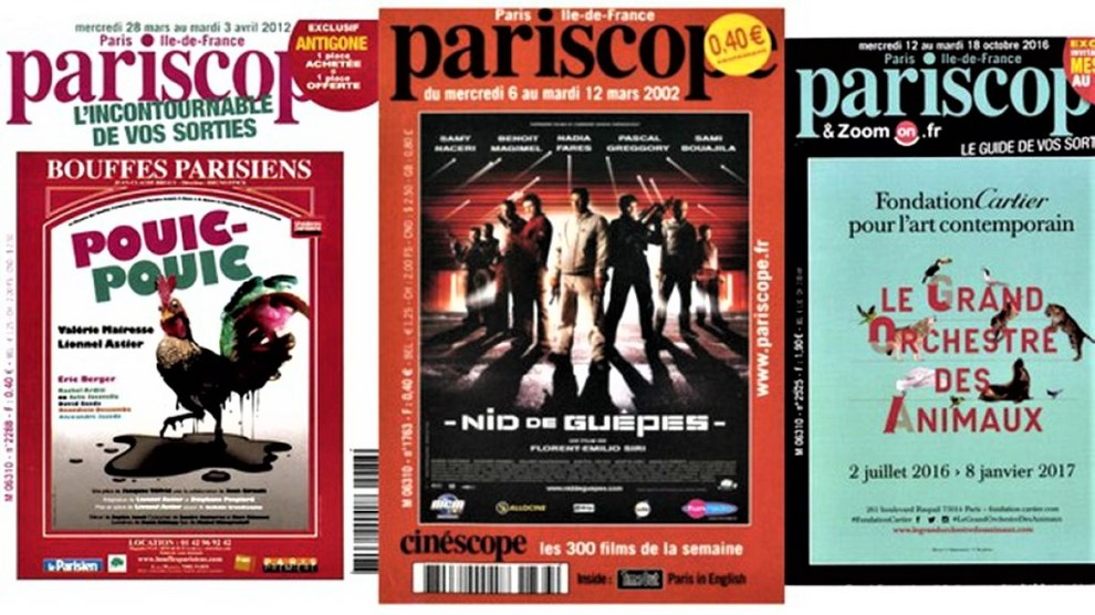 Pariscope covers
