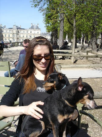 Heather and dogs in Luxembourg Gardens