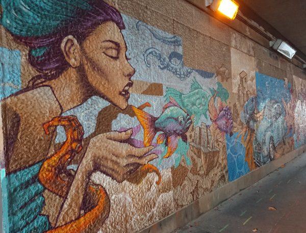Rue Pascal tunnel streetart