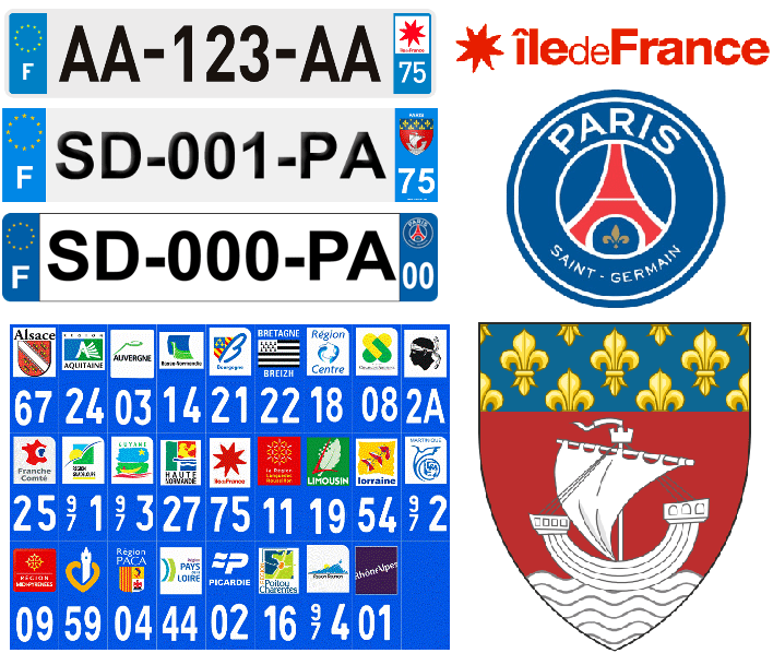 French License Plates