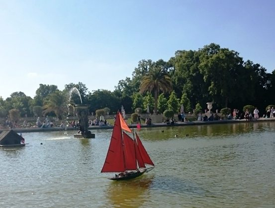 Toy boat Luxembourg Gardens