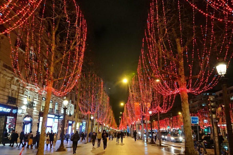 Holiday lights Champs Elysées