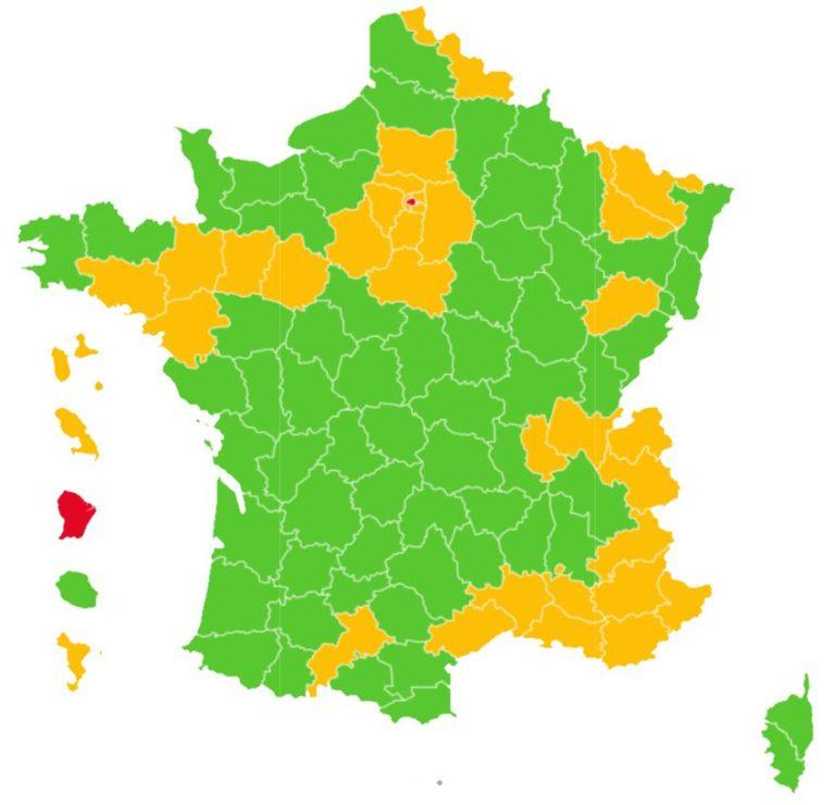 Covid Zones Map