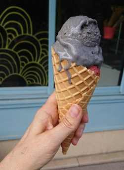 Black Sesame and Strawberry Mint