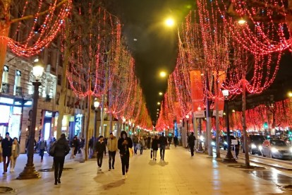 Champs Elysees Christmas lights