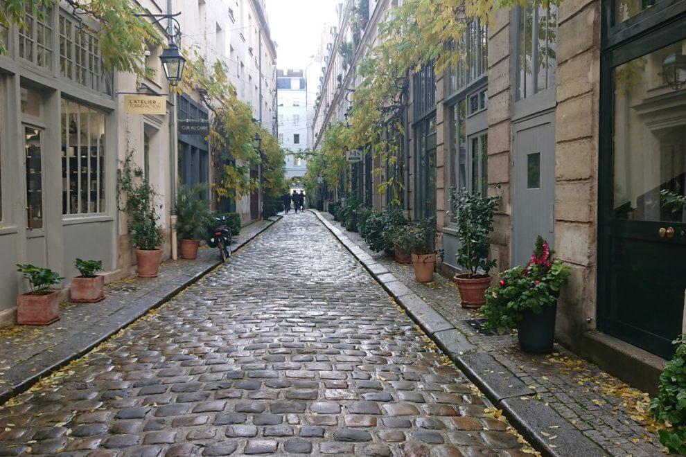 cobblestone passage