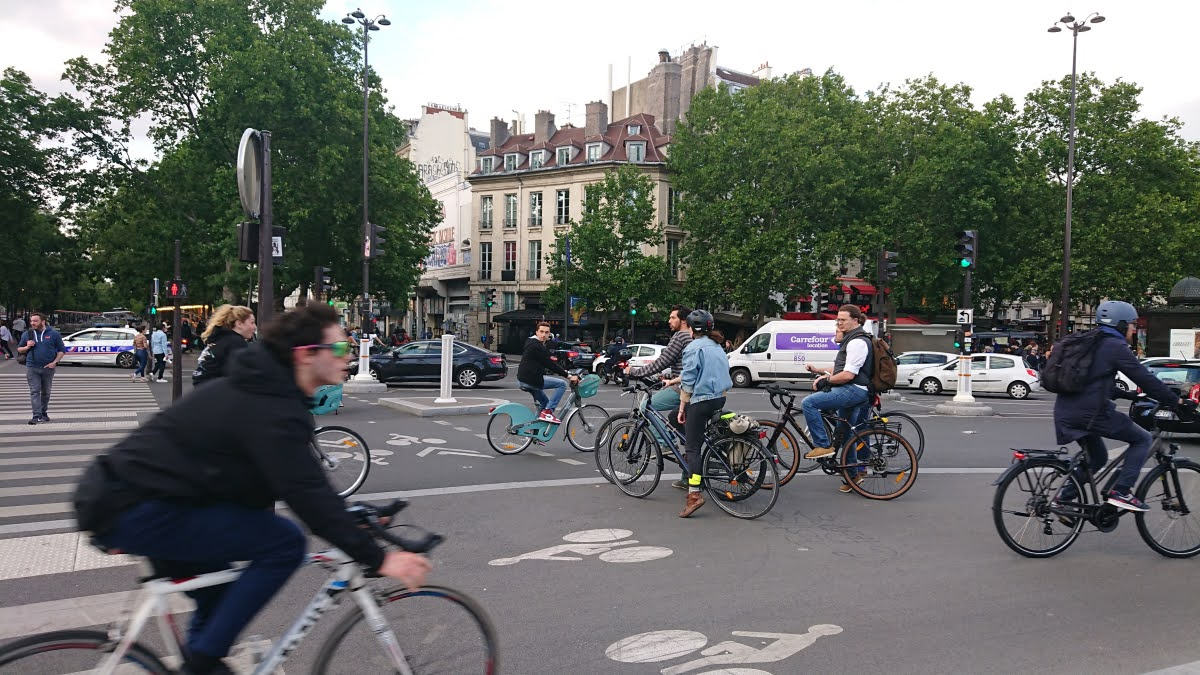 Cyclists Paris