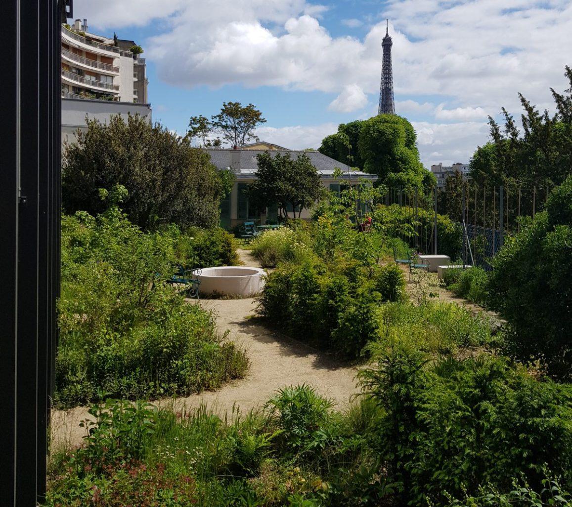 Garden and Eiffel Tower