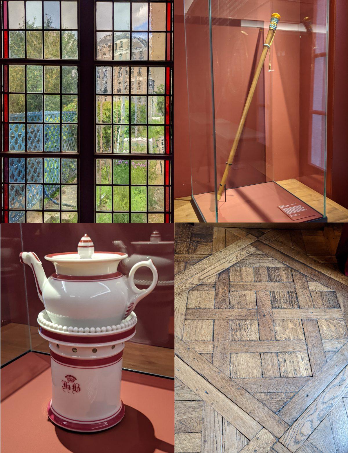 Mosaic of Balzac's house items