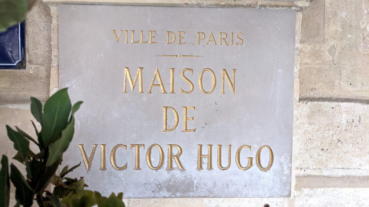 Maison de Victor Hugo sign