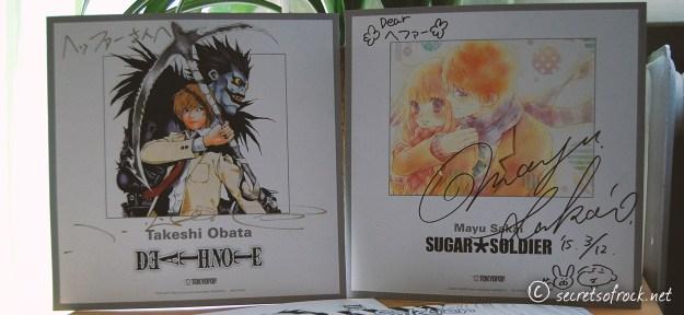 Shikishi von Takeshi Obata und Mayu Sakai