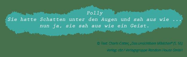 """Charis Cotter: """"Das unsichtbare Mädchen"""" (Zitat Seite 55)"""