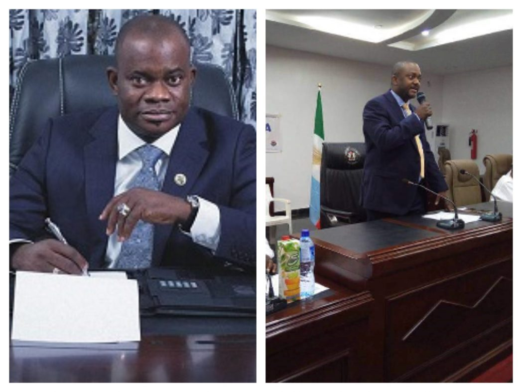 DUMMY DUMMY ON THE SEAT: KOGI CHIEF OF STAFF, ONOJA PUSH OUT GOV. BELLO AND SAT ON OFFICIAL SEAT