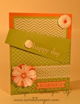 By Debbie Mageed, Happy Day, Birthday, Gift Card Holder