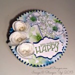 By Debbie Mageed, Happy Watercolor, Gift Box, Spiral Flower Die, Upcycled Crafts