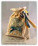 By Debbie Mageed, Tea Party, Choose Happiness, Muslin Bag, Gift Bag