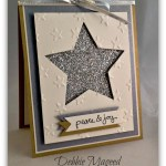 Brushed Silver and Gold make a Fab Friday Holiday Card
