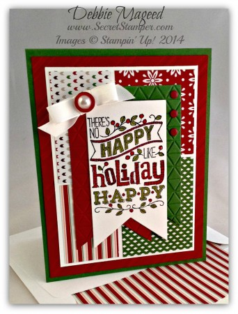 Mingle All the Way, Banner Framelits, Trim the Tree DSP, Holiday Card