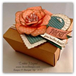 Bouquet Bigz L Die, Simply Wonderful, Takeout Box, Hearts Framelits, Valentines