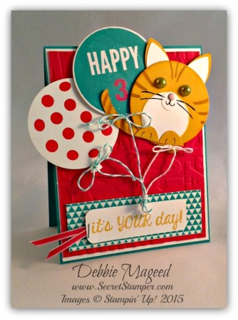 Celebrate Today, Faboulous Four, Balloon Framelits, Punch Art, Cat