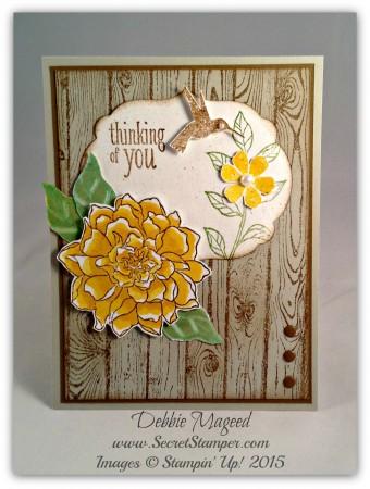 Peaceful Petals, Bloomin' Marvelous, Hardwood