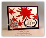 By Debbie Mageed, Project Life Day to Day, Build a Bouquet, Be the Star, July 4th, Stampin Up