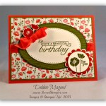 By Debbie Mageed, Birthday Blossoms, Best of Sale-A-Bration, Stampin Up
