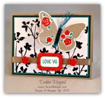 By Debbie Mageed, Floral Wings, Project Life Love Story Card Collection, Stampin Up