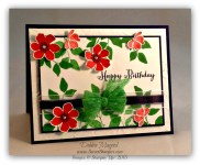 By Debbie Mageed, Summer Silhouettes, Remembering Your Birthday, Stampin Up