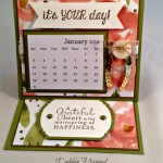 By Debbie Mageed, Fabulous Four, Pursuit of Happiness, Easel Card, Calendar, Stampin Up