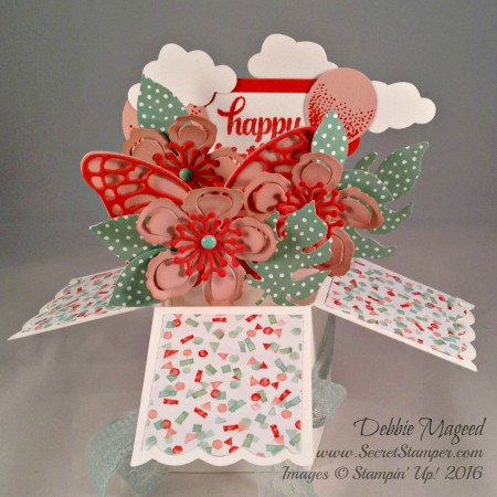 Botanical Builder Framelits, Card in a Box, Birthday Bouquet