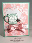 By Debbie Mageed, A Nice Cuppa, Love Blossoms Embellishment Kit, Stampin Up