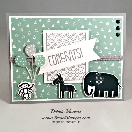 Zoo Babies, Sparkle & Shine, Party Wishes, Stampin Up